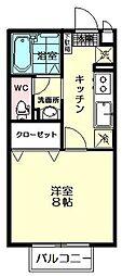 セジュールYOU[103号室]の間取り