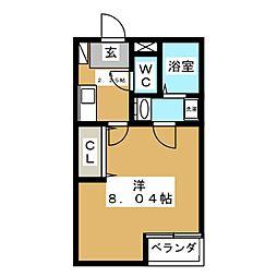 クレフラスト苦竹駅東[2階]の間取り