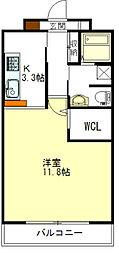 栗真MSビル[6階]の間取り
