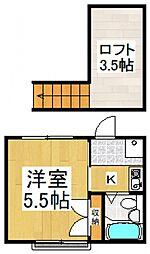 スチューディオIII[1階]の間取り