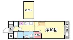 ワコーレヴィアノ上沢[102号室]の間取り