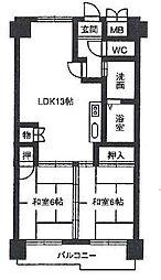 レジデンス マサノ-1[4階]の間取り