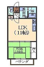 フジマンション2[2階]の間取り