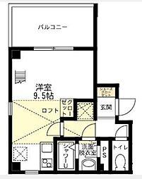 ブリティッシュクラブ宮川町[4階]の間取り