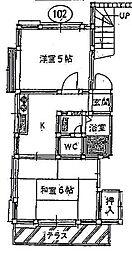 コーポエフ[2階]の間取り