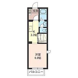 ソミール新松戸[2階]の間取り