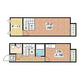 [テラスハウス] 大阪府茨木市島4丁目 の賃貸【/】の間取り
