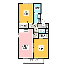 グランフォーレ壱番館[2階]の間取り