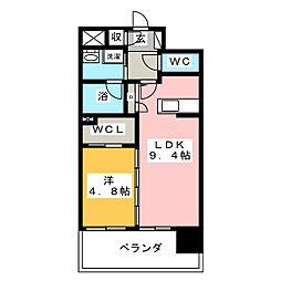 プレミア ステーション 西口[5階]の間取り