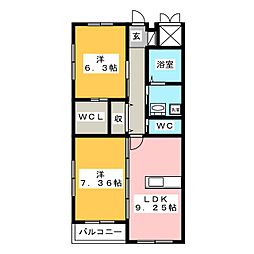 グランIII[3階]の間取り