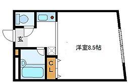 レディースマンションプリンセス[4階]の間取り
