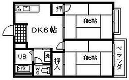 大阪府岸和田市西之内町の賃貸アパートの間取り