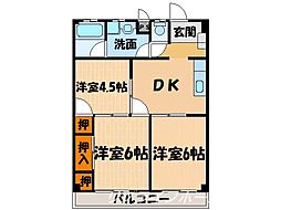 藍住マンション[1階]の間取り