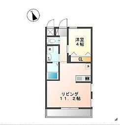 プランドール横濱[105号室]の間取り