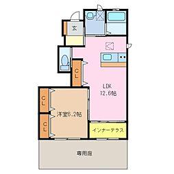 三重県鈴鹿市東江島町の賃貸アパートの間取り