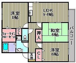 オーク・ソフィア1・2[2-202号室]の間取り