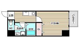 TOYOTOMI STAY premium梅田西2 3階1Kの間取り