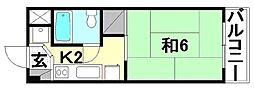 二宮マンション[406号室]の間取り