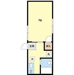 新潟県新潟市中央区堀之内南2丁目の賃貸アパートの間取り