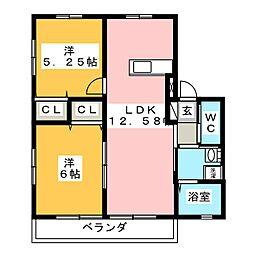 レトア太田ハイツ[1階]の間取り