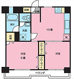 神奈川県横浜市中区本牧三之谷の賃貸マンションの間取り