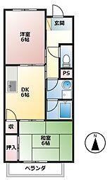 エスポワール大井 B棟[1階]の間取り