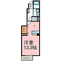 アルモニ-スクエアD[1階]の間取り