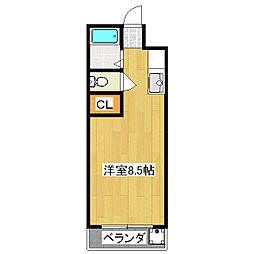 グレース上野[2階]の間取り