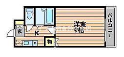 岡山県倉敷市玉島爪崎丁目なしの賃貸マンションの間取り