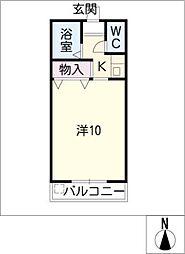 プラザ栄[2階]の間取り