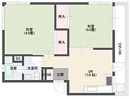 杉山マンション[302号室]の間取り