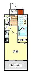 福岡市地下鉄空港線 東比恵駅 徒歩9分の賃貸マンション 9階1Kの間取り