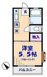笹本ハイム[3階]の間取り