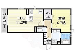 シャルレーヌ・ドゥ・グレイス 3階1LDKの間取り
