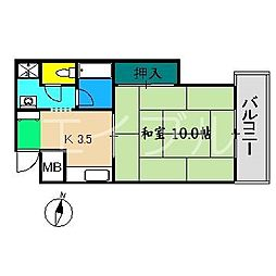 アーバンボックス[5階]の間取り