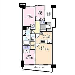 Brillia City 横浜磯子J棟[4階]の間取り