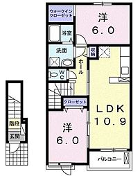 シティ クレメント[2階]の間取り