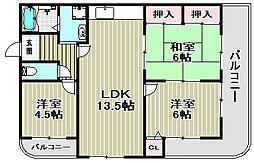 リバーサイドFUSA[5階]の間取り