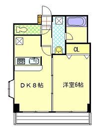 神奈川県横浜市神奈川区神大寺1丁目の賃貸マンションの間取り