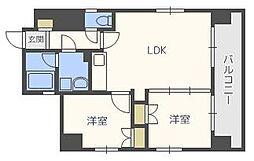 プレスタイル博多NORTH[8階]の間取り