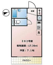 東京都江戸川区東葛西1丁目の賃貸アパートの間取り