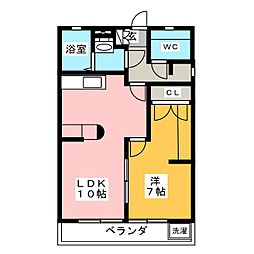 OS・SKYマンション鹿子[1階]の間取り