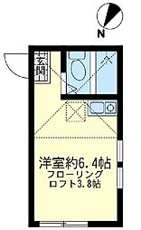 ユナイト川崎 シープレーリー[1階]の間取り