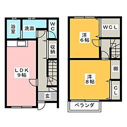 [テラスハウス] 静岡県静岡市清水区押切 の賃貸【/】の間取り