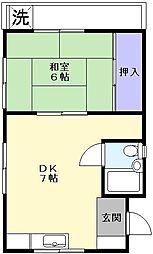 馬場アパート[2階]の間取り