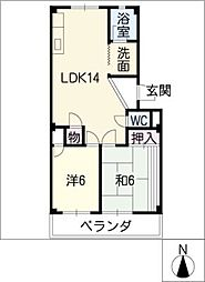 須成ハイツ[3階]の間取り