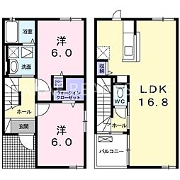 [テラスハウス] 徳島県徳島市津田本町5丁目 の賃貸【/】の間取り