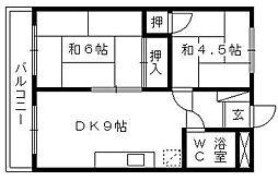 富士ユウトービル[302号室]の間取り