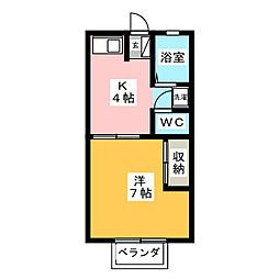 ハイツ蔵前 B[1階]の間取り