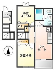 レガートC[2階]の間取り